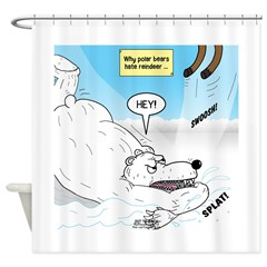 Polar Bears and Reindeer Shower Curtain