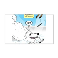 Polar Bears and Reindeer Wall Decal