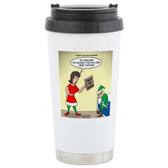 Elf Trouble Travel Mug