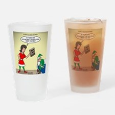 Elf Trouble Drinking Glass