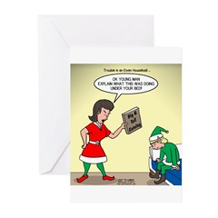 Elf Trouble Greeting Cards (Pk of 10)