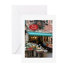 market buon natale Greeting Cards