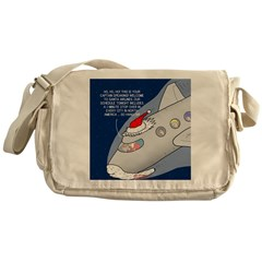Santa Airlines Messenger Bag