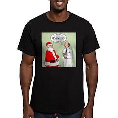 Santa's Tummy Tuck Men's Fitted T-Shirt (dark)
