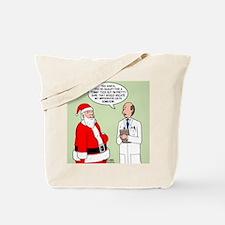 Santa's Tummy Tuck Tote Bag