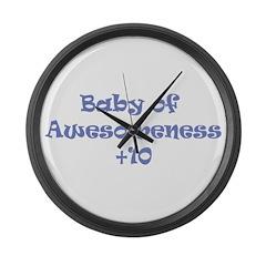 T-shirt of Awesomeness Large Wall Clock