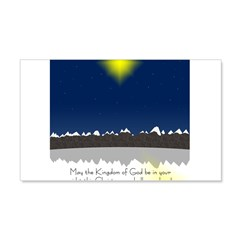 Christmas Star on Snowy Night Wall Decal
