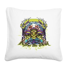 before the dark Square Canvas Pillow