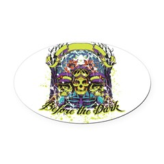 before the dark Oval Car Magnet
