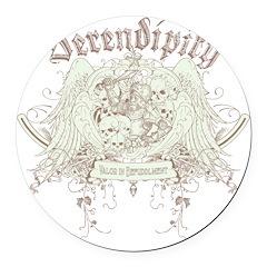 Serendipity Round Car Magnet