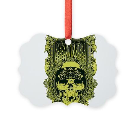 inkfection bandanna skull Picture Ornament