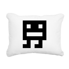 Retro Space Monster Rectangular Canvas Pillow