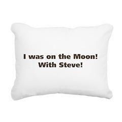 on the moon Rectangular Canvas Pillow