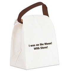 on the moon Canvas Lunch Bag