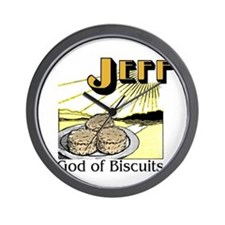 God of Biscuits Wall Clock