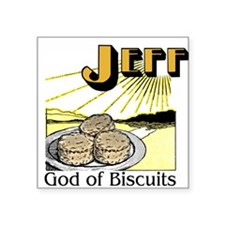 """God of Biscuits Square Sticker 3"""" x 3"""""""