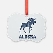 Retro Alaska Moose Ornament