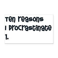 procrastinate Rectangle Car Magnet