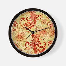 Vintage Floral Damasks Wall Clock