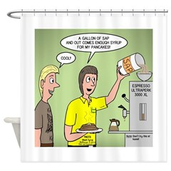 KNOTS Maple Syrup Shower Curtain