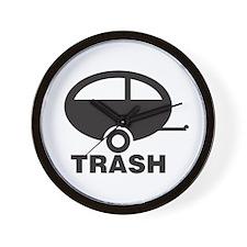 Trailer Trash Wall Clock