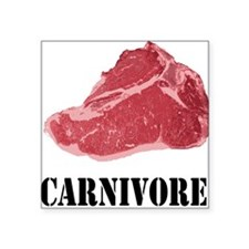 "Carnivore Square Sticker 3"" x 3"""