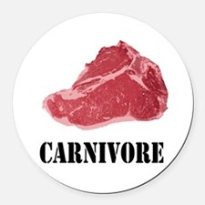 Carnivore Round Car Magnet