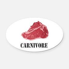 Carnivore Oval Car Magnet
