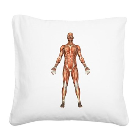 visiblemanfront.png Square Canvas Pillow