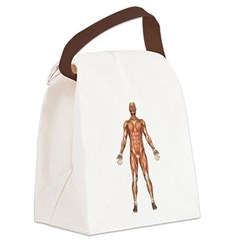 visiblemanfront.png Canvas Lunch Bag