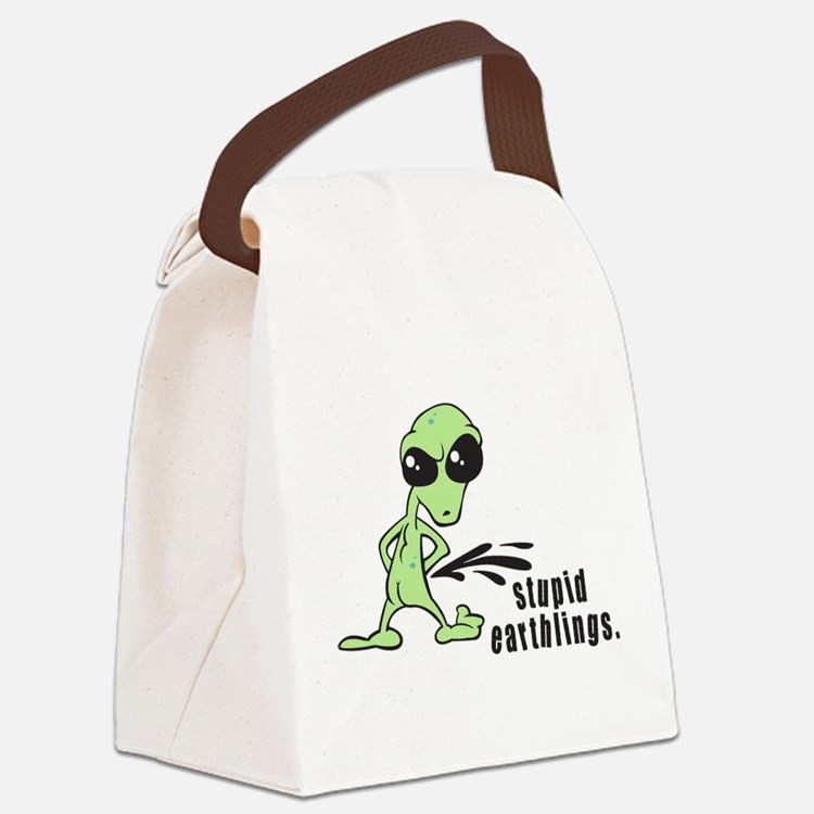 Stupid Earthlings Canvas Lunch Bag