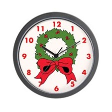 Christmas Wreath Custom Wall Clock