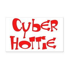 Cyber Hottie Rectangle Car Magnet