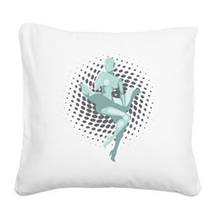 Mechanized Marilyn Square Canvas Pillow