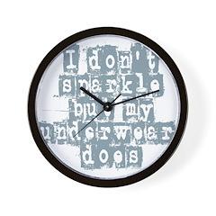 i dont sparkle Wall Clock