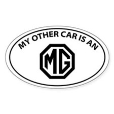 My Other Car is an MG - Octogon Logo Decal