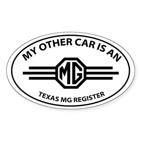 My Other Car is an MG - Wings Logo and TMGR Sticke