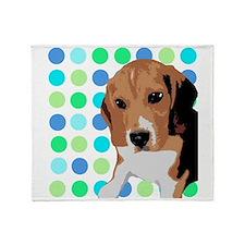 Beagle Pop Art 1 Throw Blanket