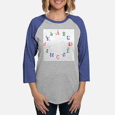 alphabet 3008.png Womens Baseball Tee