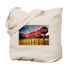 Stop Signs Tote Bag