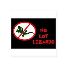 No Lot Lizards Rectangle Sticker
