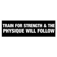 Train for Strength White Bumper Sticker