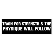 Train for Strength White Car Sticker