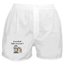 Snowball Fight Boxer Shorts