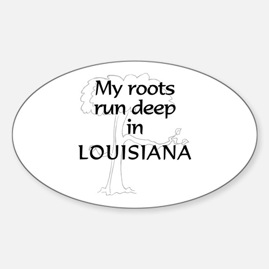 Louisiana Roots Oval Decal