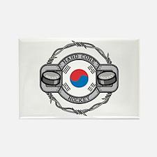 Korean Hockey Rectangle Magnet