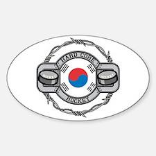 Korean Hockey Oval Bumper Stickers