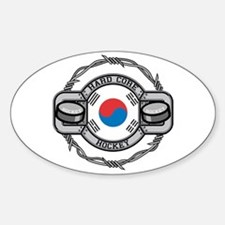 Korean Hockey Oval Decal