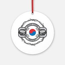 Korean Hockey Ornament (Round)