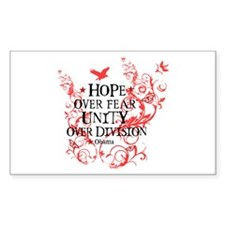 Obama Vine - Hope over Division Decal